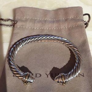 David Yurman Classics Cable Bracelet Two Tone 18k